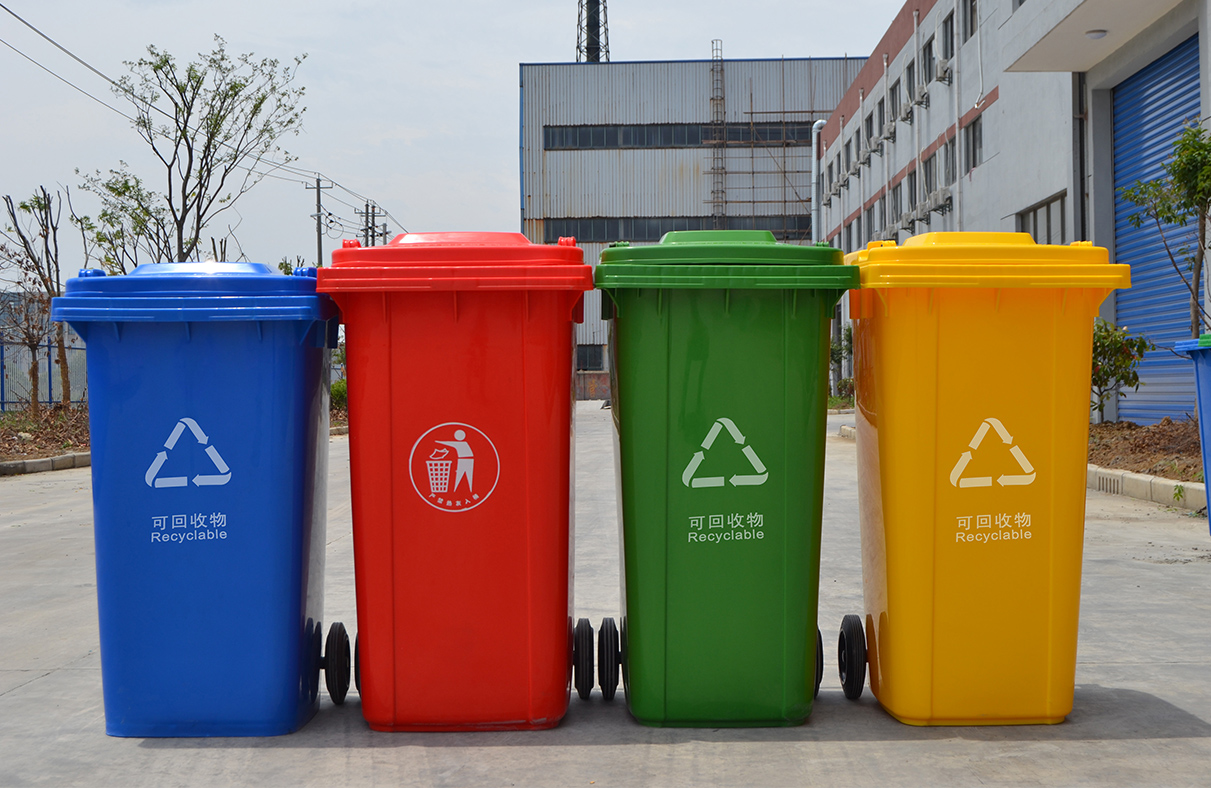 Details of plastic garbage can materials